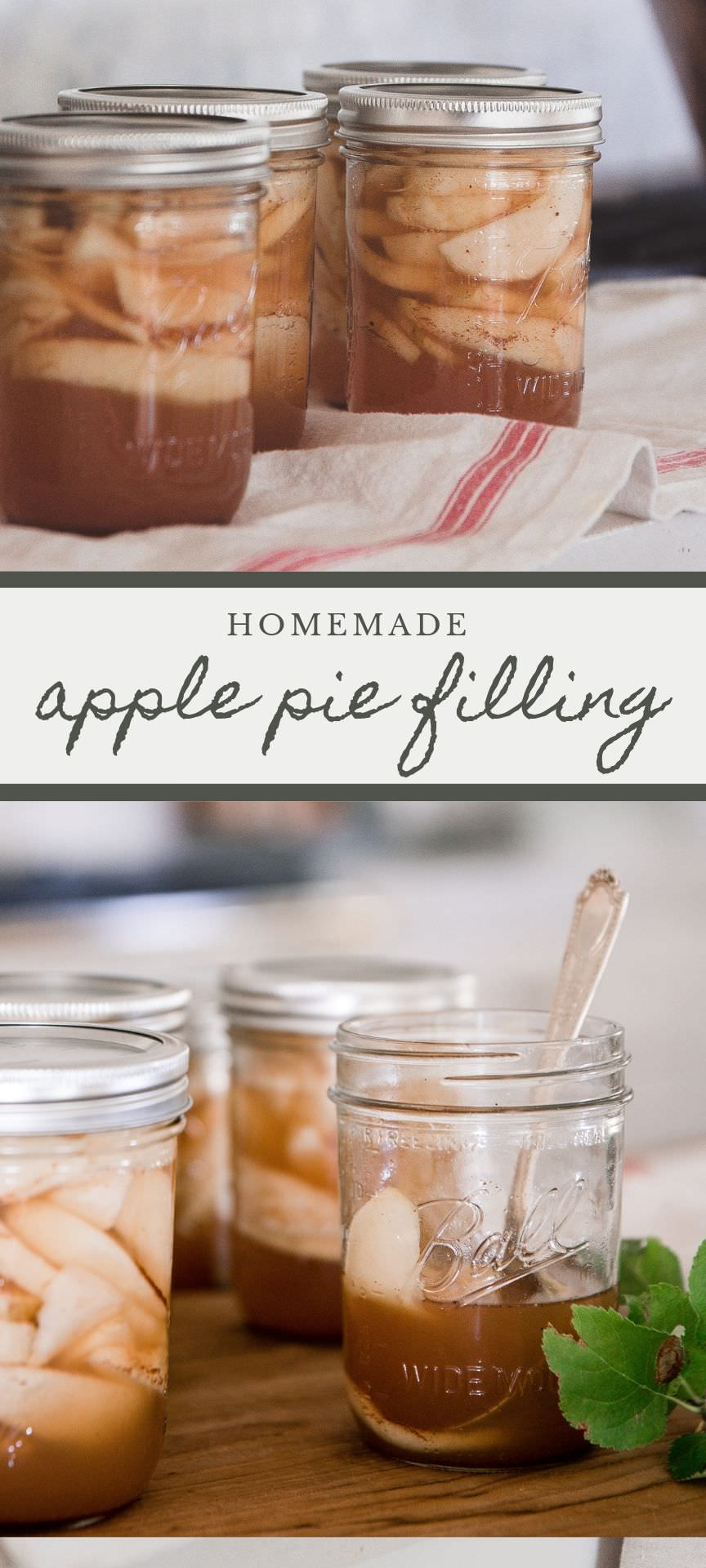 Homemade apple pie filling is easy to preserve! Make the most of your apples with this homemade apple pie filing recipe!  #ballhomecanning #applerecipes #applepie #partner