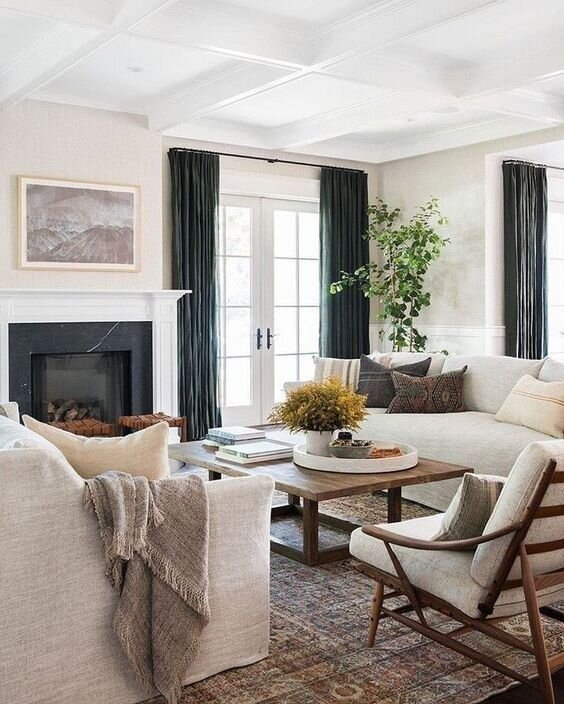 Earthy Farmhouse Living Room Design Plan Boxwood Avenue