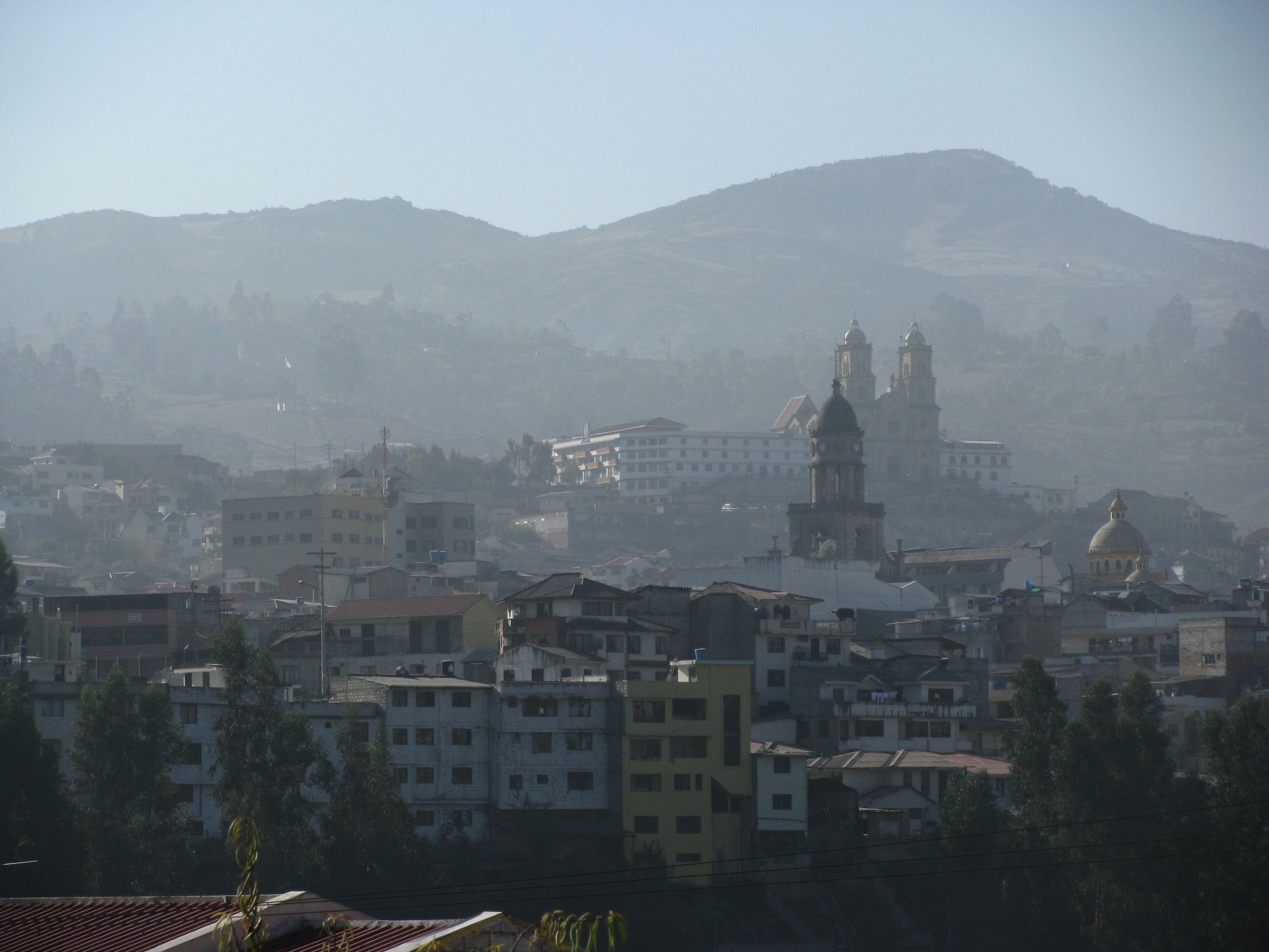 Azoges Ecuador  a typical small city in the mountains