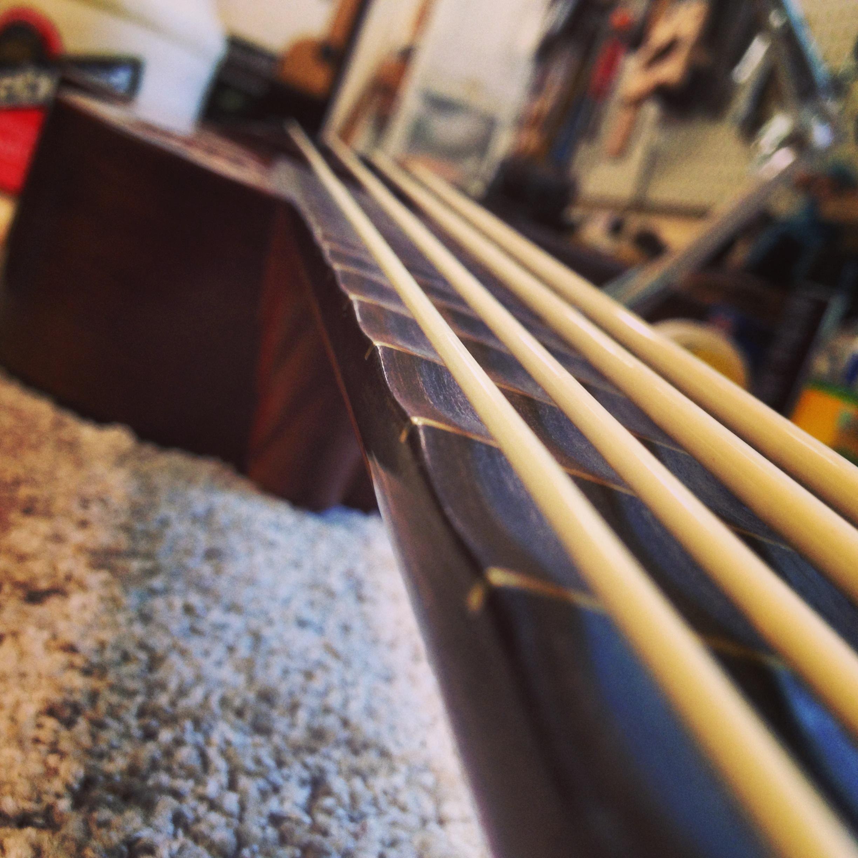 Scalloped Fretboad on Ukulele Bass