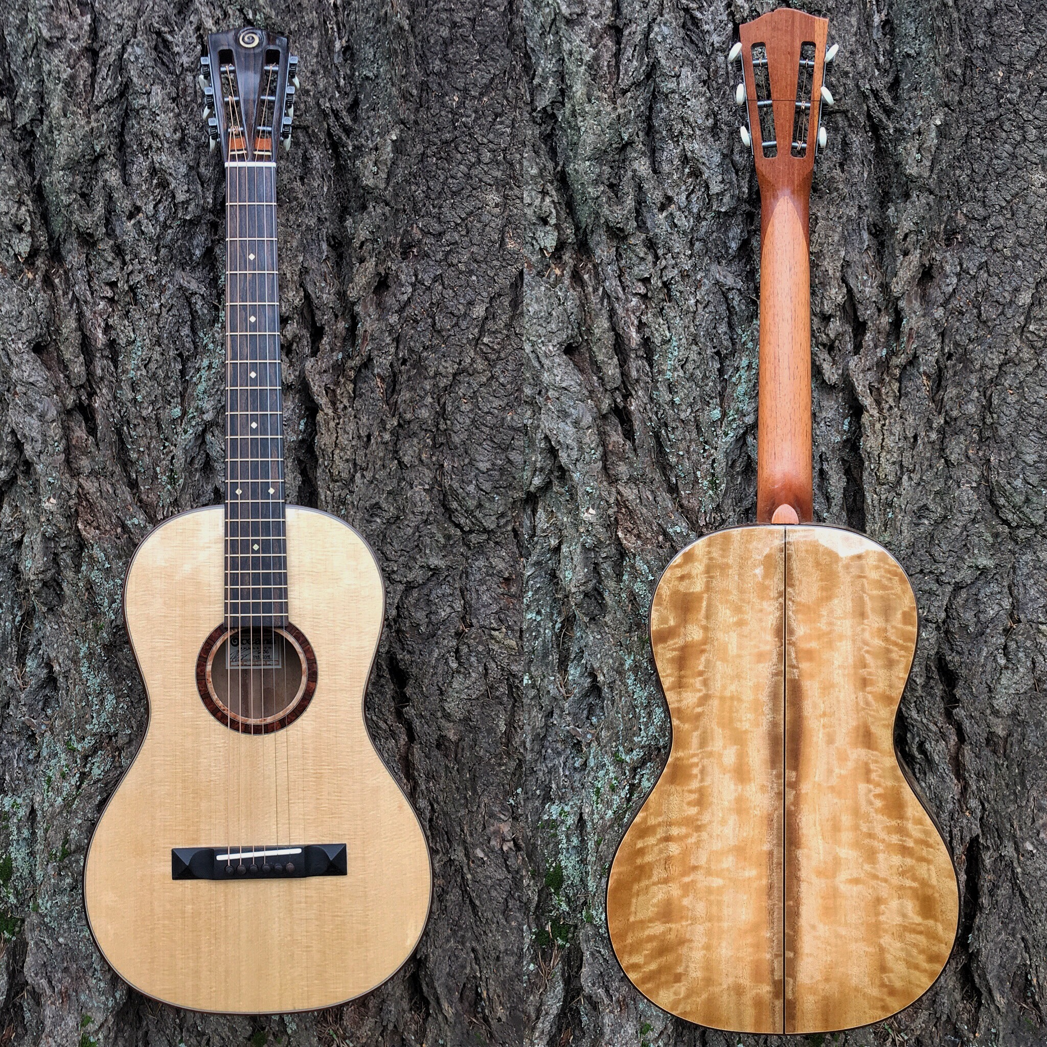 Parlor guitar by Oceana Hand Crafted by Zac Steimle