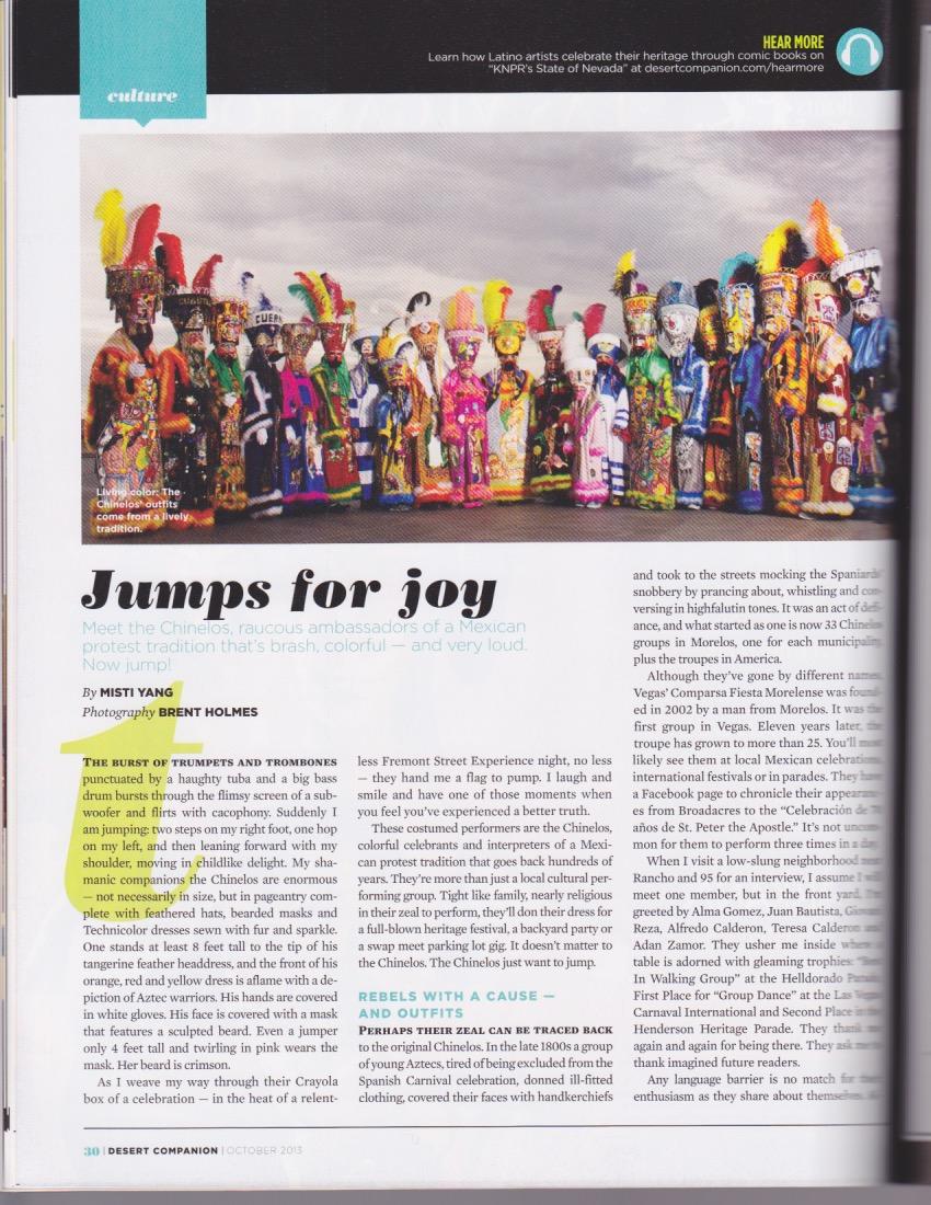 Jumps for Joy - Desert Companion, October 2013