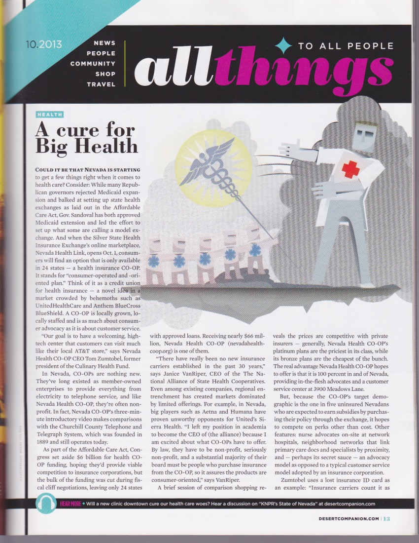 A cure for Big Health - Desert Companion, October 2013