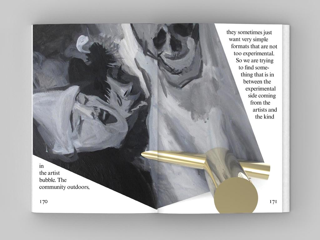 杂志内页效果图,图案来源于艺术家 王子芸 的绘画作品