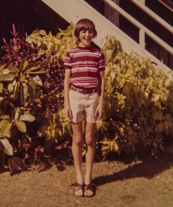 Me, off to Sunday school. Taken with my first camera. Photo credit: Yvonne Bowden