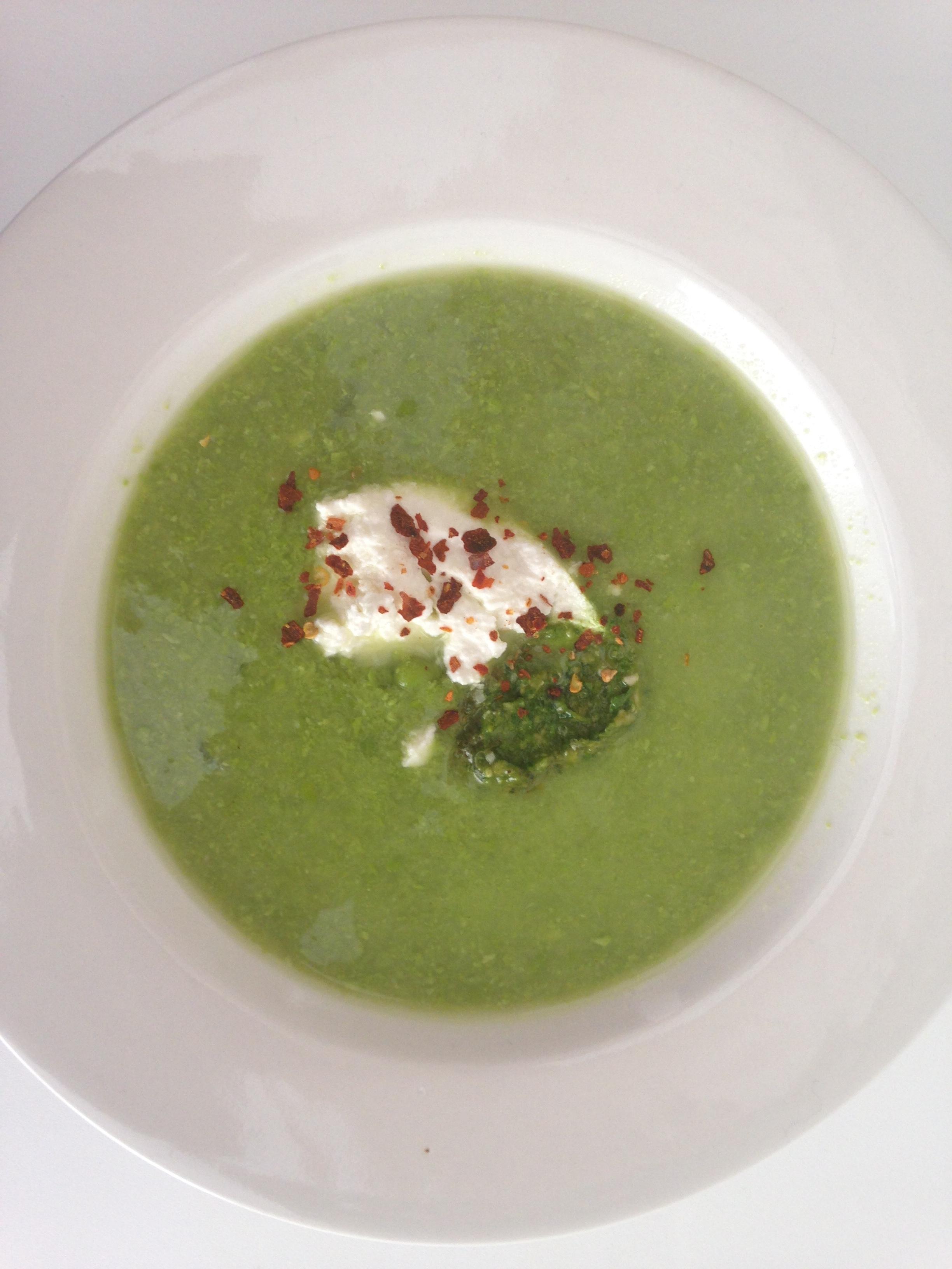 Pea & Pesto Soup