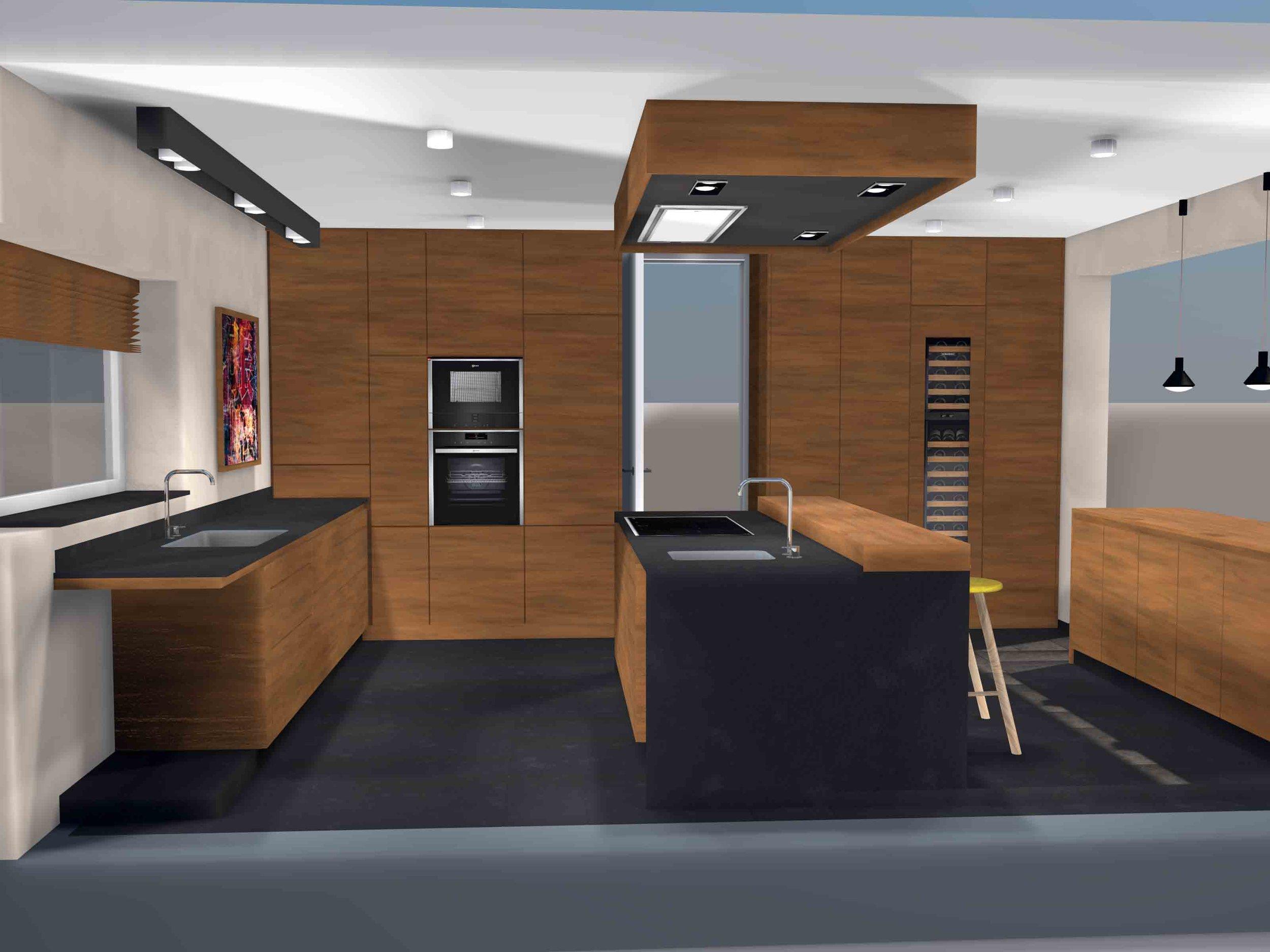 Küche Nussbaum Kücheninsel