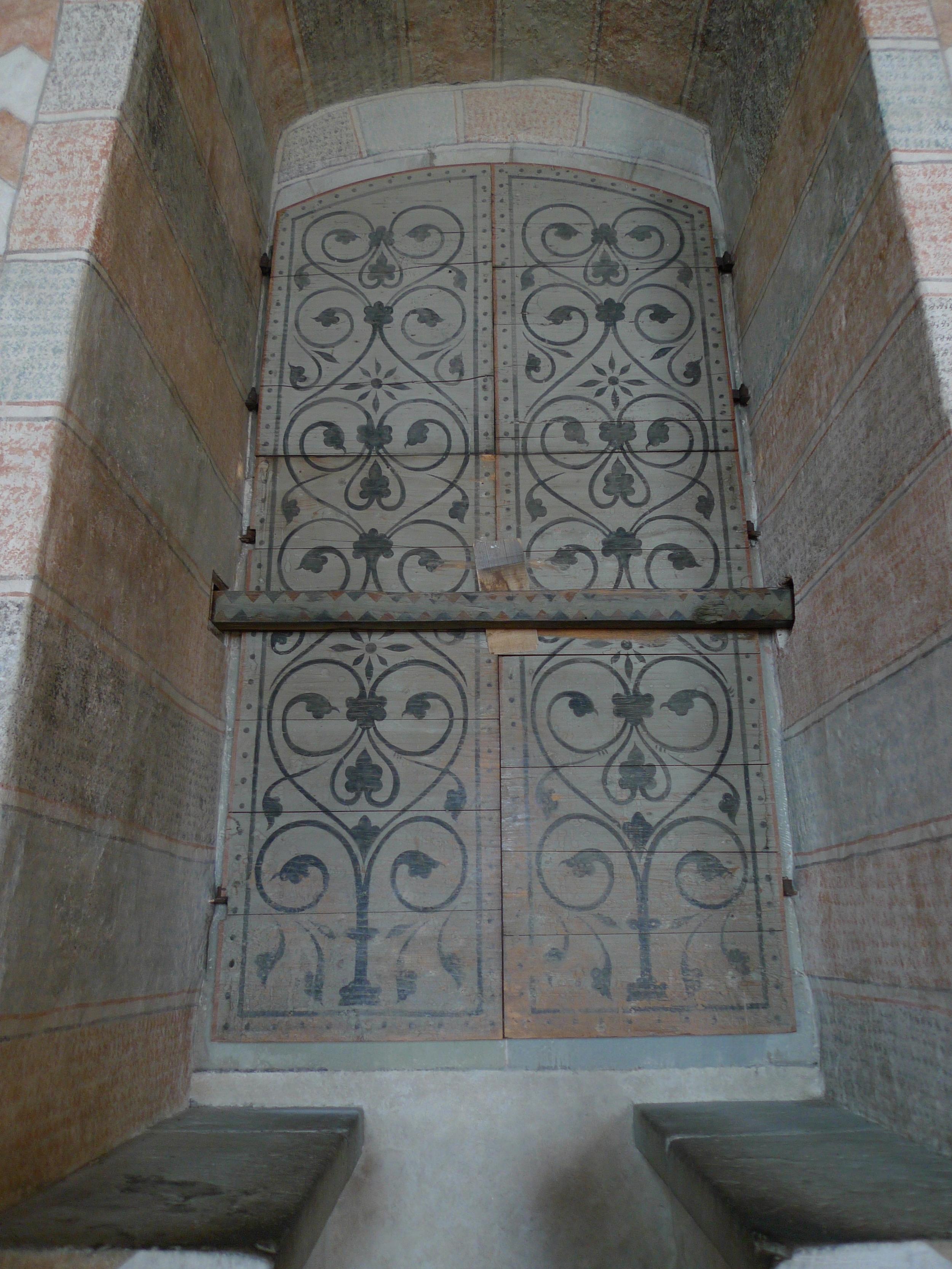 Ornate window shutters