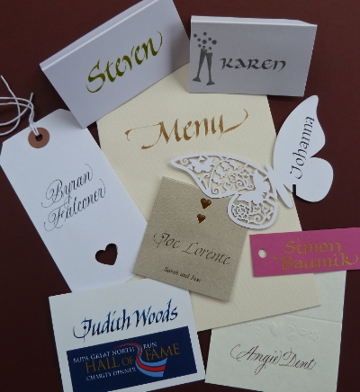 variety of Placecards