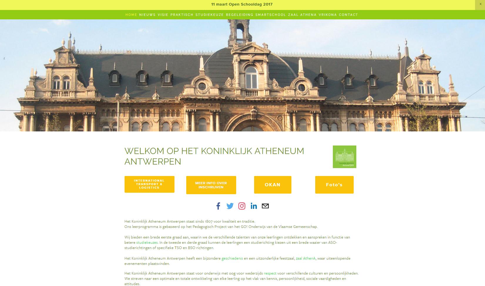 Het Koninklijke Atheneum Antwerpen  www.atheneumantwerpen.be