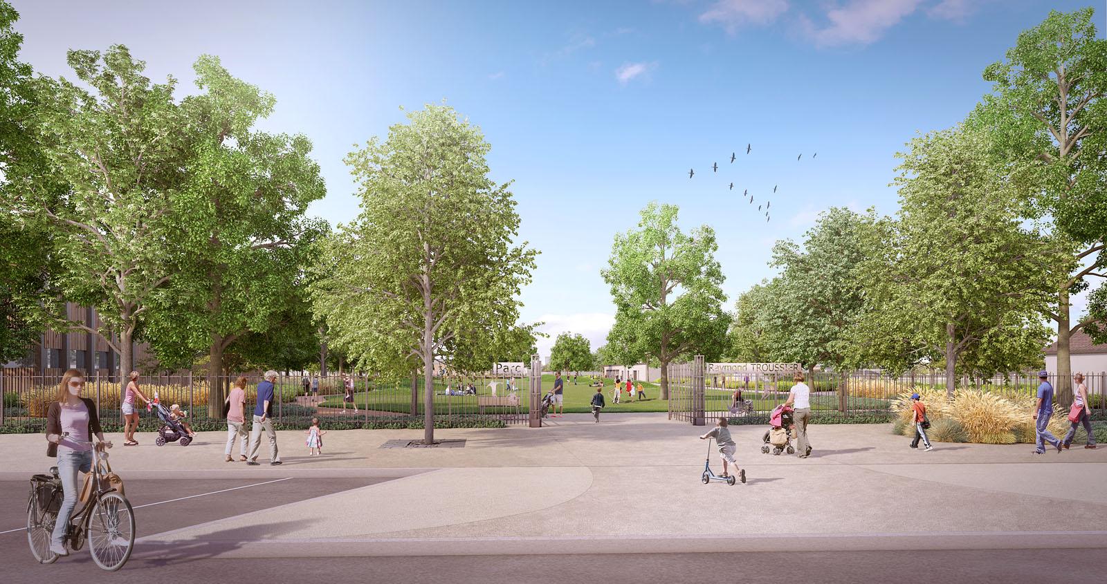 Reconfiguration Parc Raymond Troussier à Décines