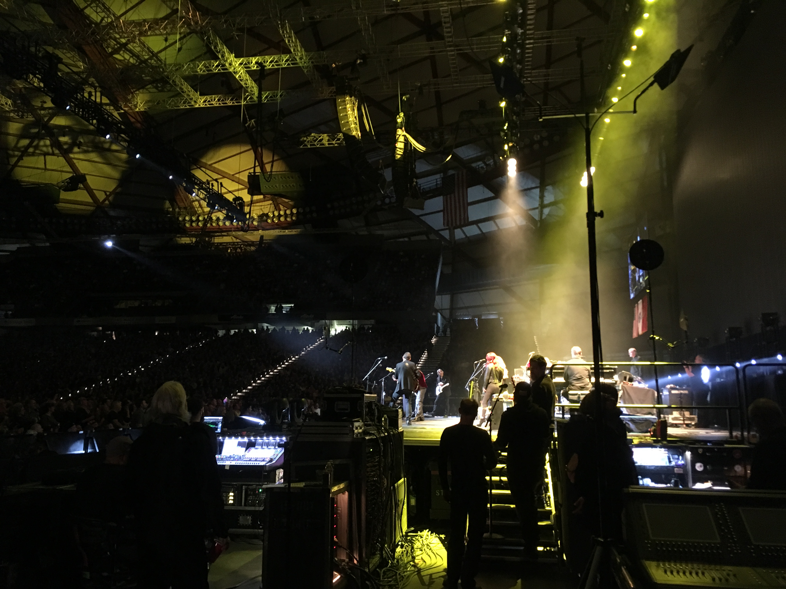 Side stage at the Tacoma Dome