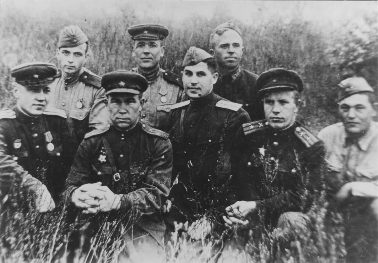 Group military group photo, Rozenberg in the middle.  1 st   Ukrainian   Front . 1943.