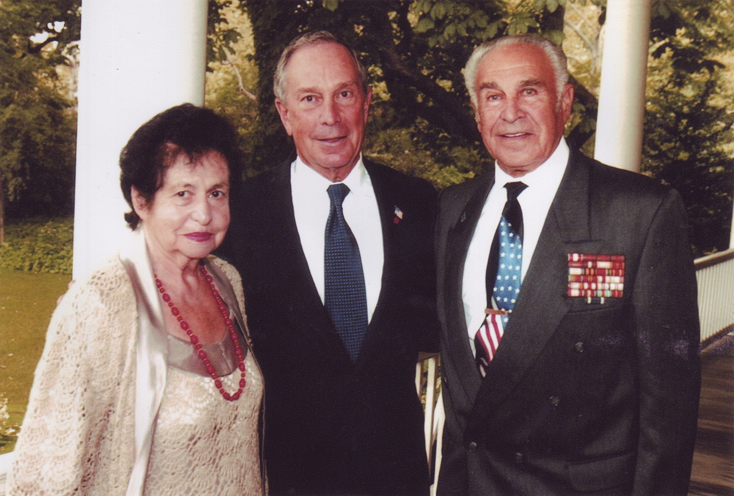 Leonid Rozenberg with wife Fanya and Mayor Bloomberg