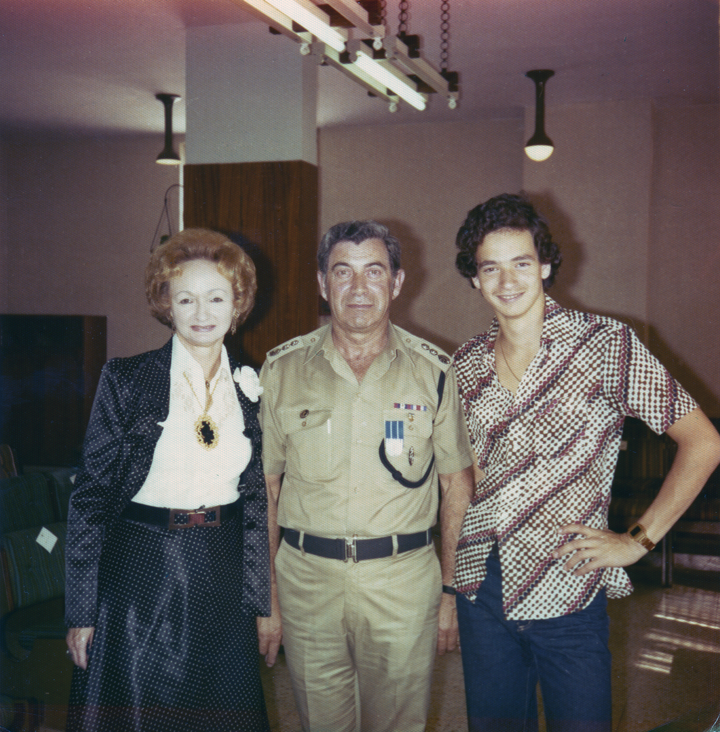Yagel with son and wife, Israel