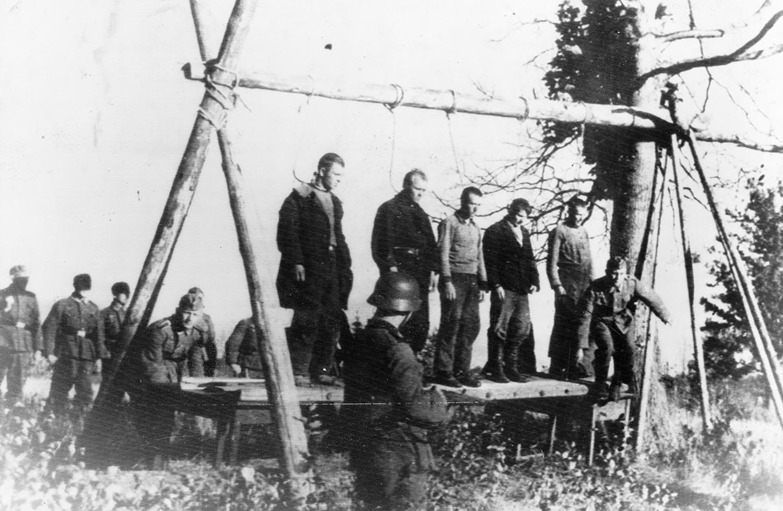 Execution of civilians, 1941. Photographer unknown, AP.