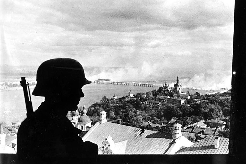 Nazi-occupied Kiev, 1941. German Federal Archive.