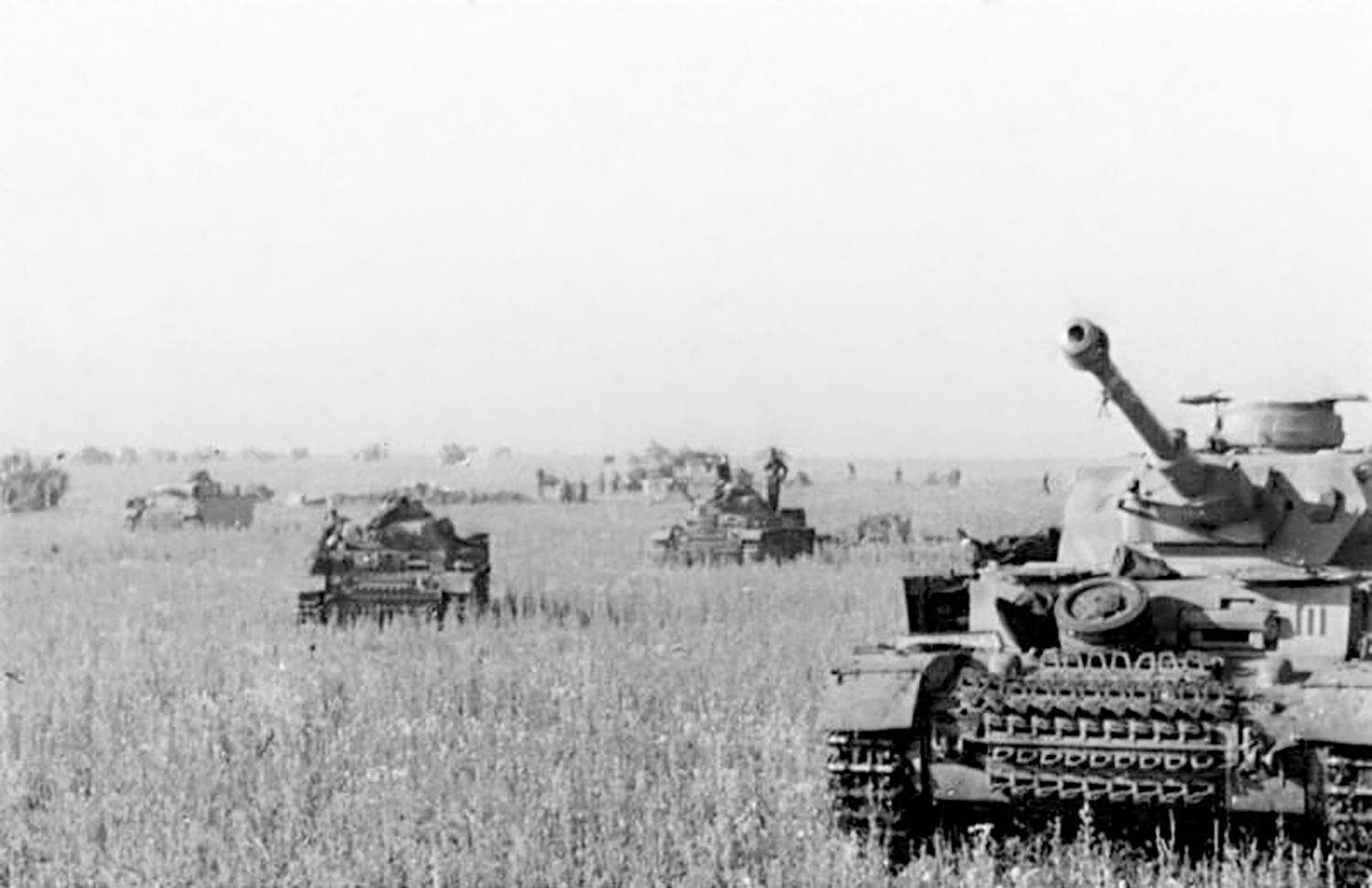 German Panzer tanks, 1943. Photographer, Henisch. German Federal Archives.