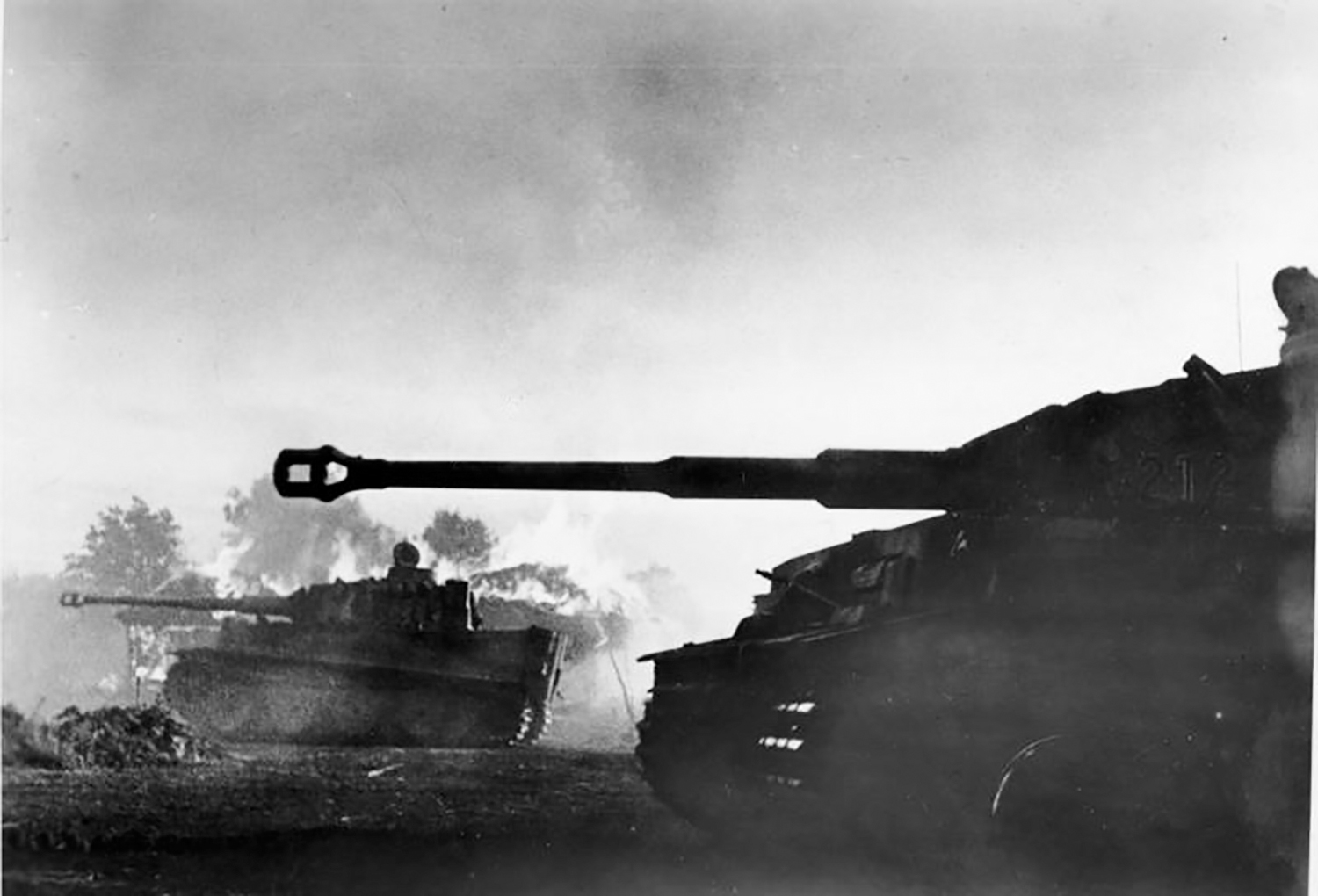 German Panzer tanks, 1943. Photographer, Merz. German Federal Archives.