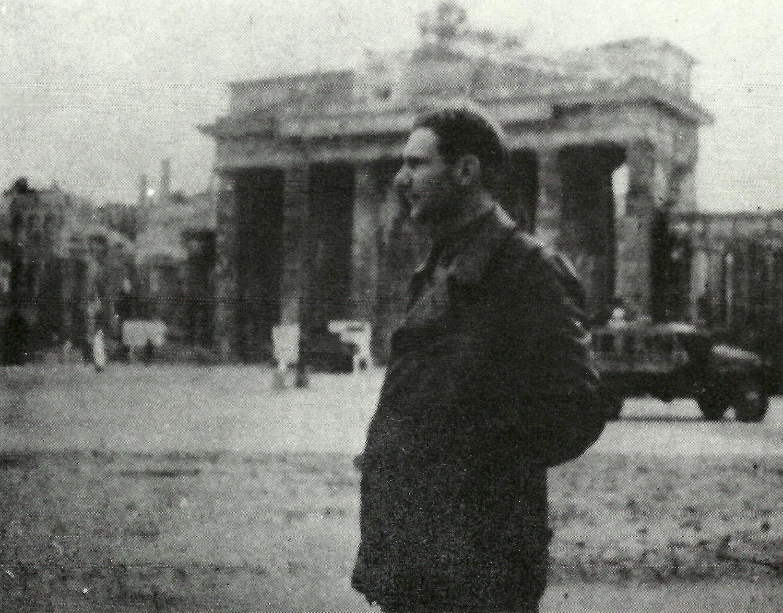 Brandenburg Gates, Berlin. 1945