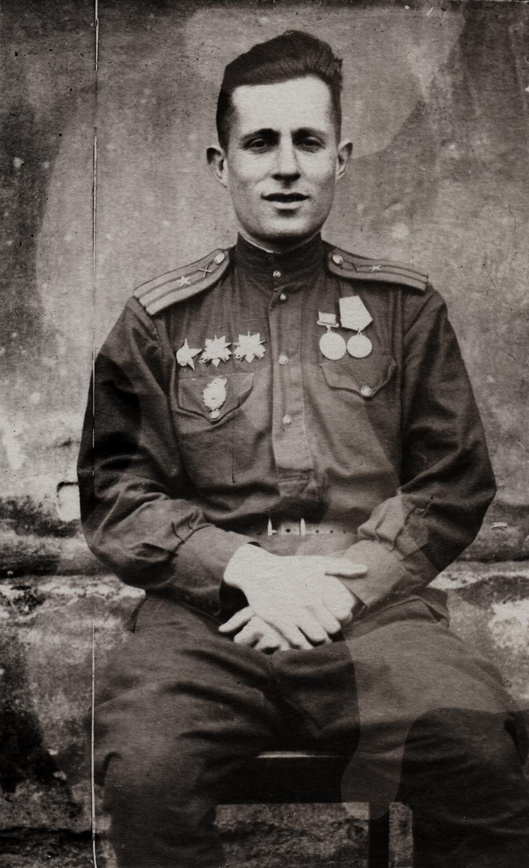 """Naum Sapozhnykov. Written on back: """"To my good, old friend Nolik from Mark. Germany."""""""