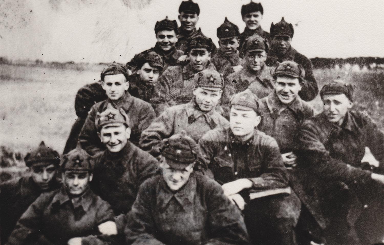 Cadet Avraham Levin, 3rd row from bottom, on left. Brest, Belarus. 1940.