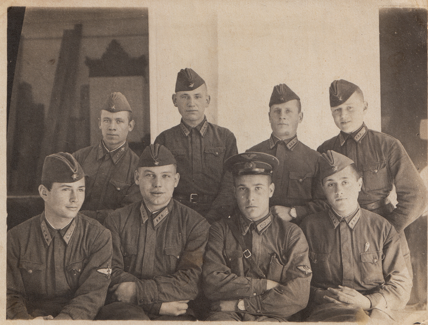 Gregory Fein (top row, first on the right). Odesa Oblast, Ukraine, August 1941