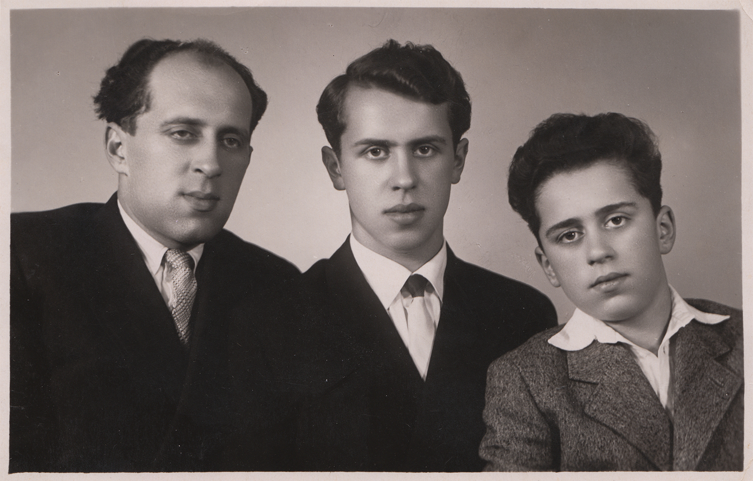 Moisey Melamed's sons: Isaac, Boris, and Savely. March, 1960