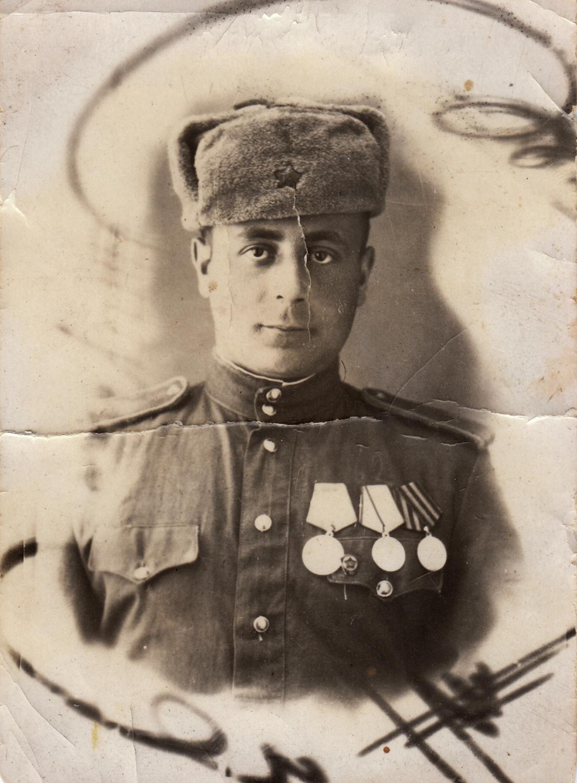 Efim Kutz on the 3rd Ukrainian Front, 1945