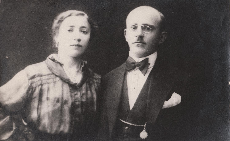 Mira and Lev Pinsky, Yuliy's parents. Kyiv, 1918. Both perished in Babi Yar.