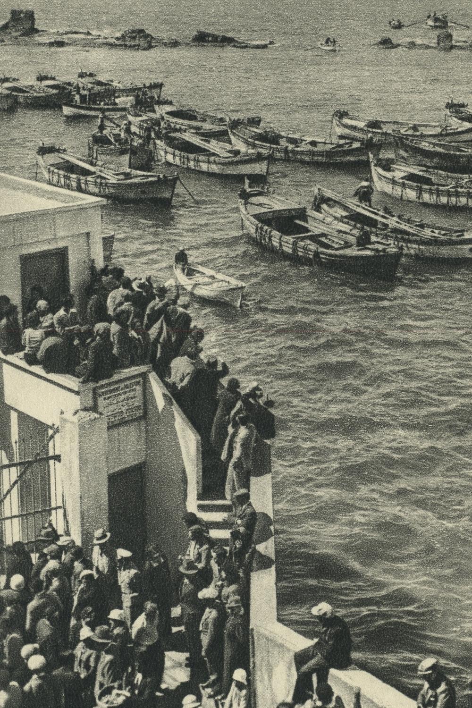 Chalutzim Landing at Jaffa. ca. 1930 - 1940