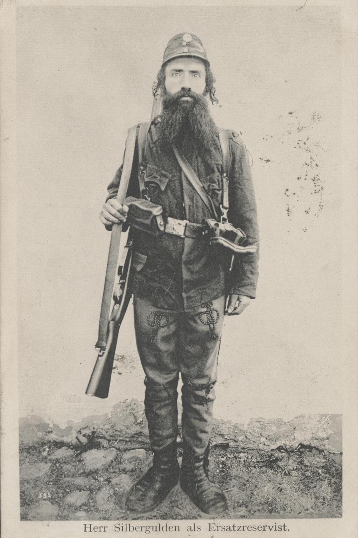 Herr Silbergulden as replacement reserve. Krakow, Poland. 1909