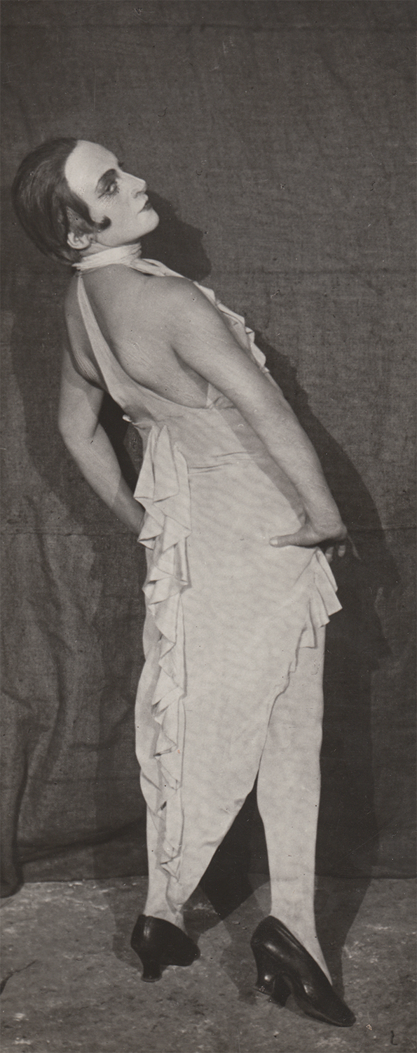 Photograph of Moscow State Yiddish Theatre (GOSET) female actor in stage makeup.