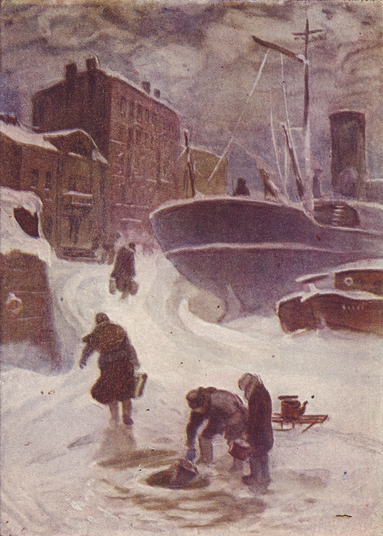 Getting water on the Neva during the Leningrad Blockade