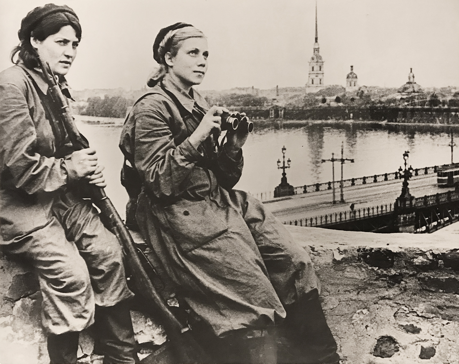 Boris Kudoyarov's photograph taken during the Siege of Leningrad during WWII. ca. 1941-1944