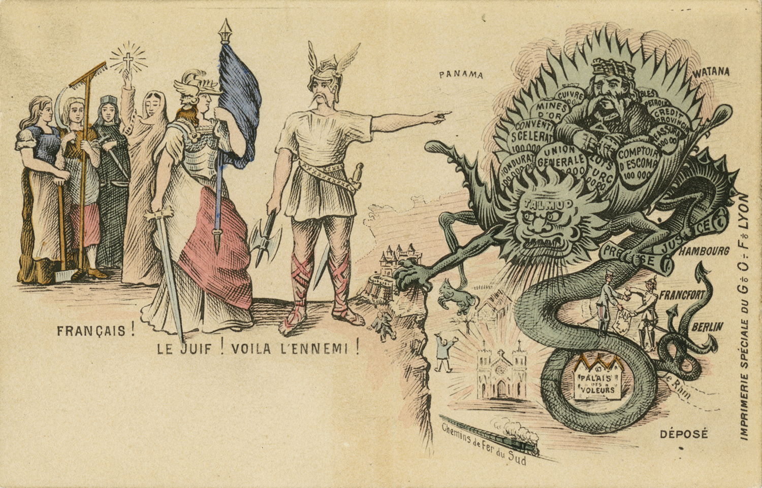 """""""Frenchmen! The Jew! Here is your enemy!"""" ca. 1900"""