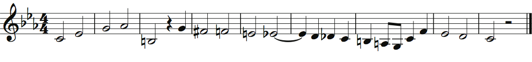 Theme of Bach's Musical Offering