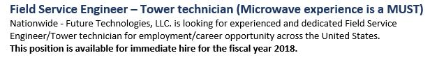 Field Service Engineer _ Tower Technician (Microwave experience is a MUST).JPG
