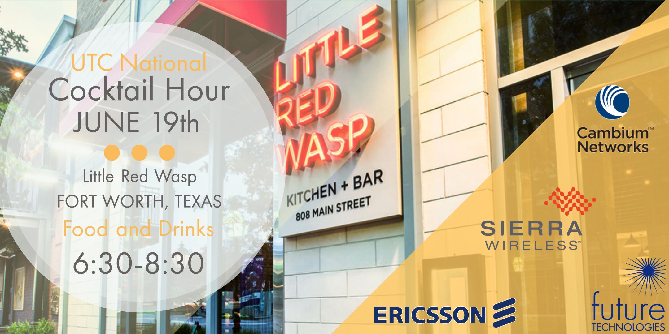 Do you plan to be at UTC National? We'd be happy to discuss the benefits of LTE for evolving grid. We will be hosting a cocktail hour with three of our leading vendors right after the show on Wednesday the 19th and we'd love to have you join us for some fun and networking.