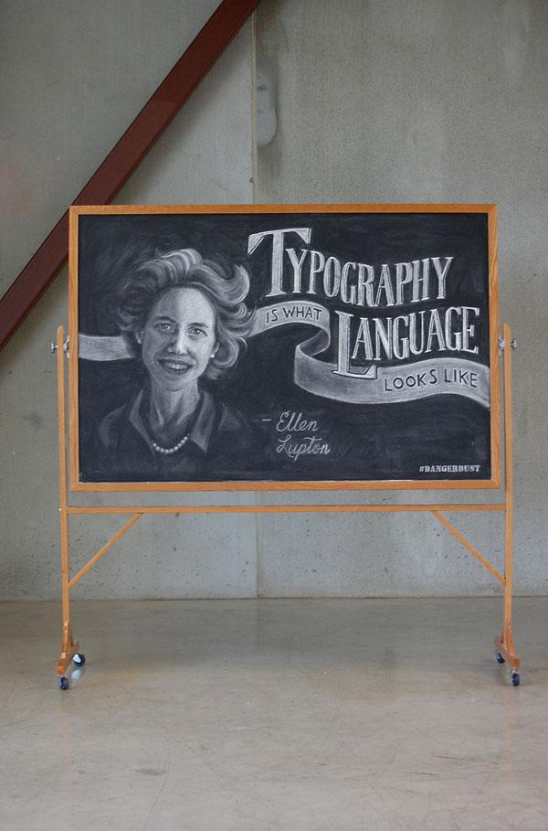 "WEEK 2 - Ellen Lupton ""Typography is what language looks like"""