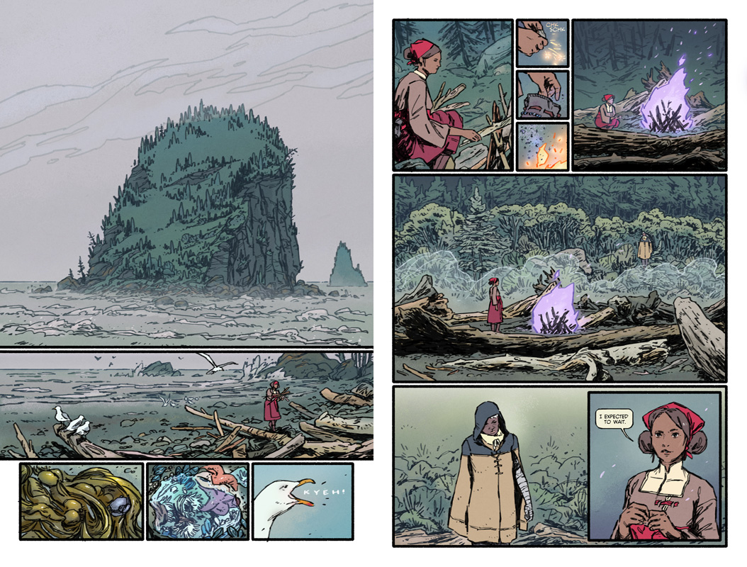 Pages from Exisle  available for purchase:  https://gumroad.com/l/exisle