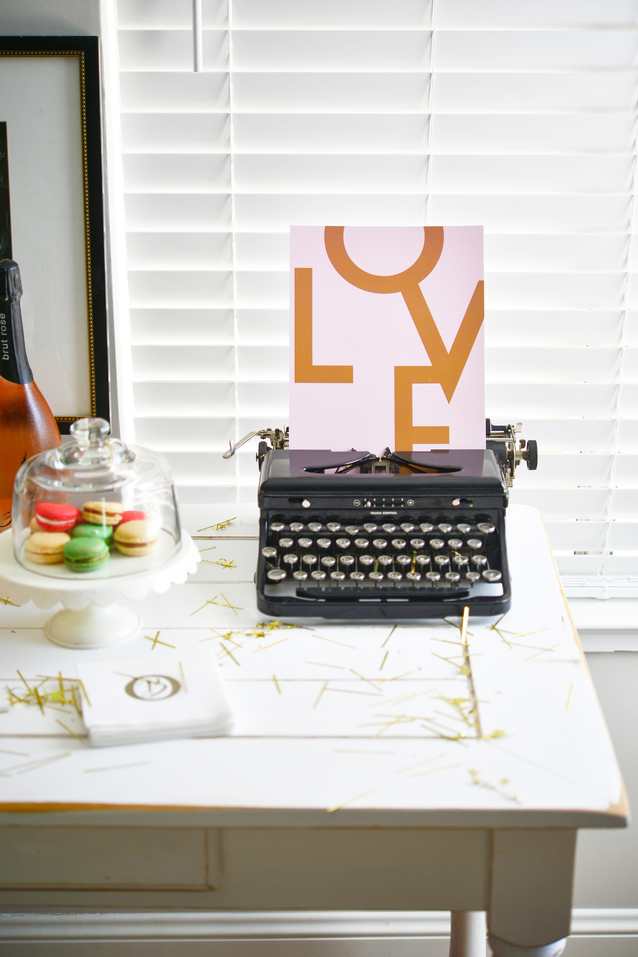 Have fun and be creative when decorating, you never know what great combinations you'll come up with.  LOVE sign can be purchased from  Chapters.Indigo