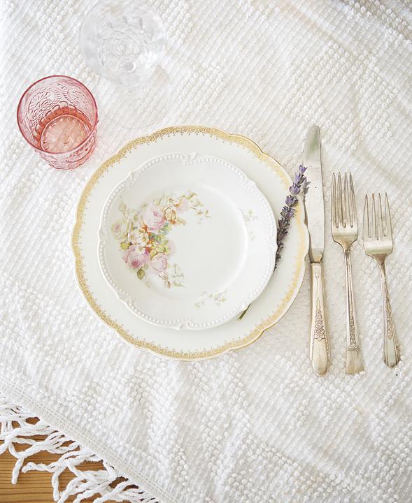 Decorative Vintage China table setting