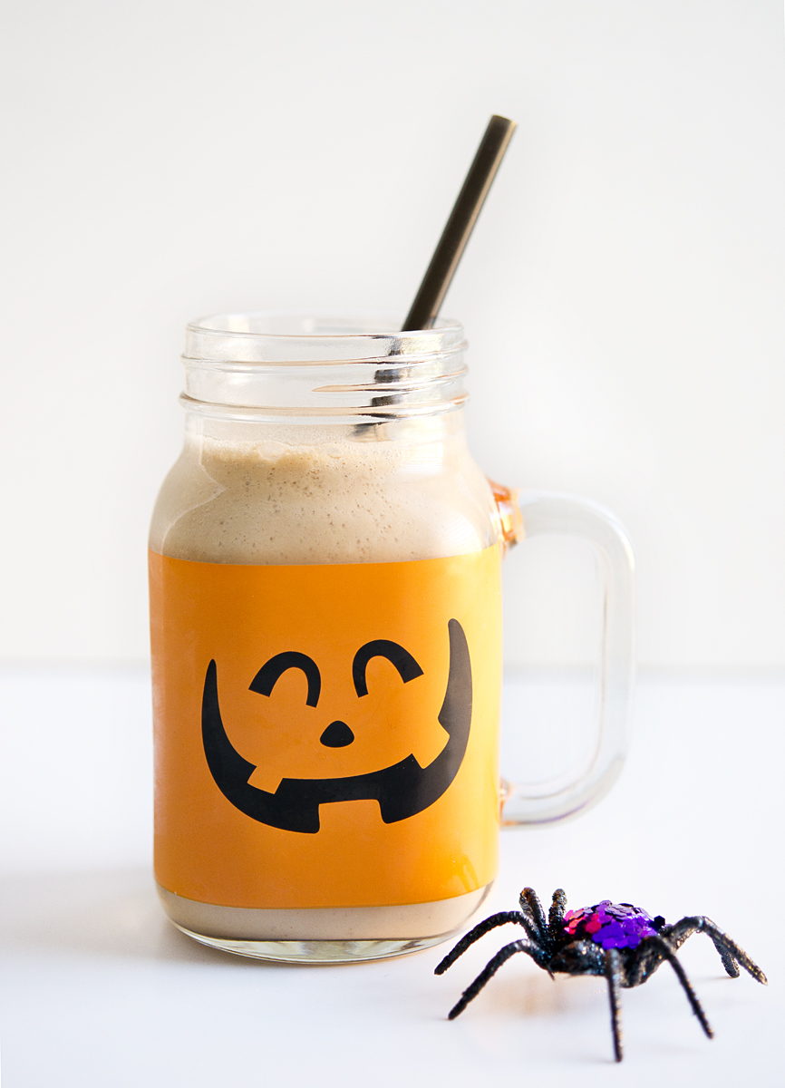 This fun pumpkin mason jar mug is from Michaels Craft store.