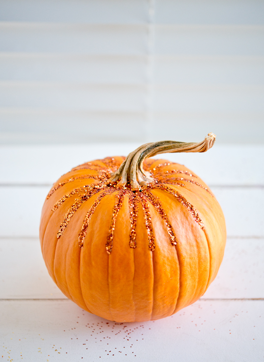 glitter pumpkin idea
