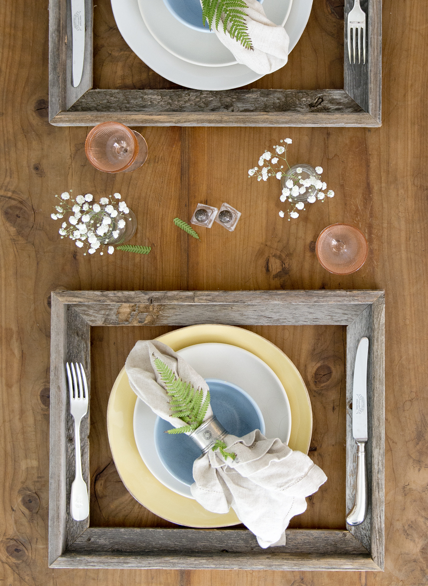 valentines rustic tablesetting tablescape