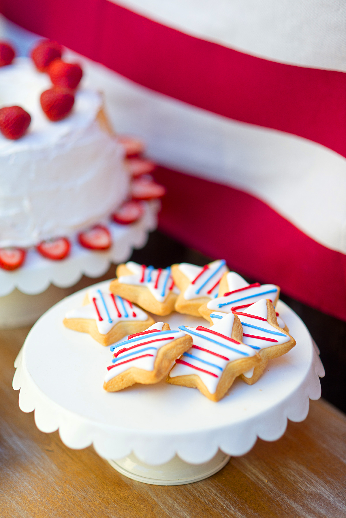 Yummy 4th of July cookies! Perfect dessert for a party! #surlatabe #4thofjulyparty #dessert