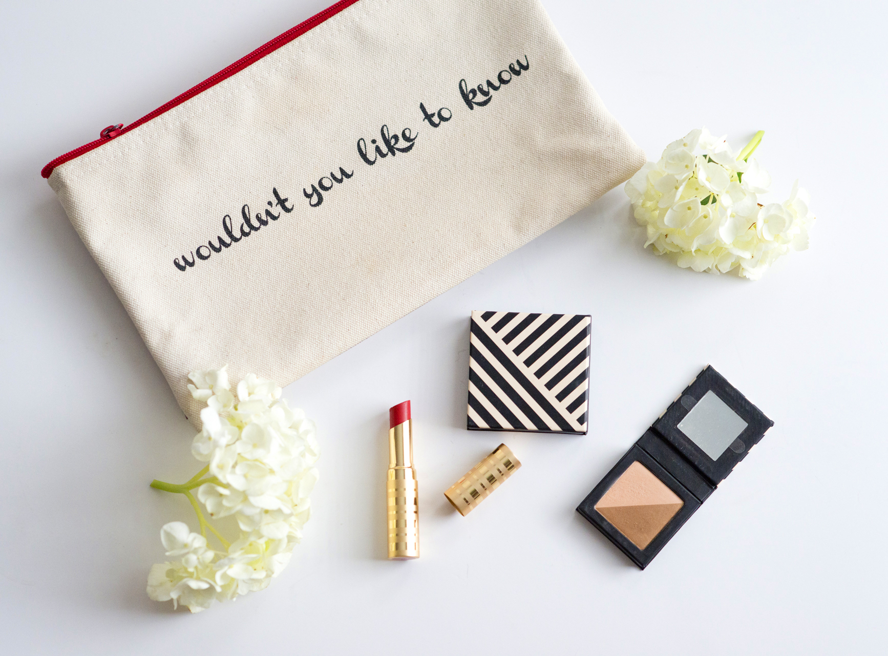 Beauty Counter's makeup and cute bag