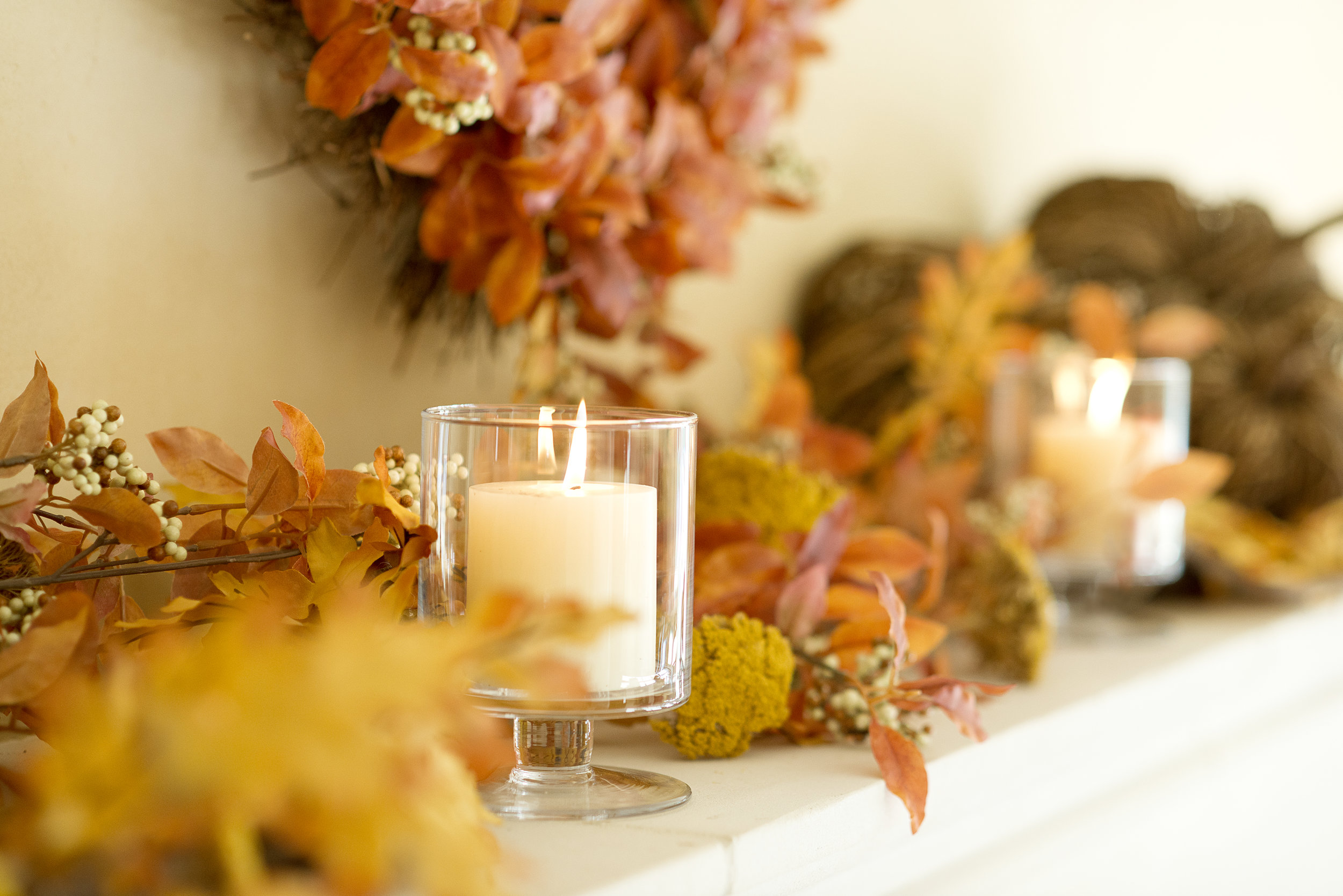 Fireplace Styled 3 Ways! My Splendid Living partnered with Crate & Barrel for this fall fireplace mantel inspiration!