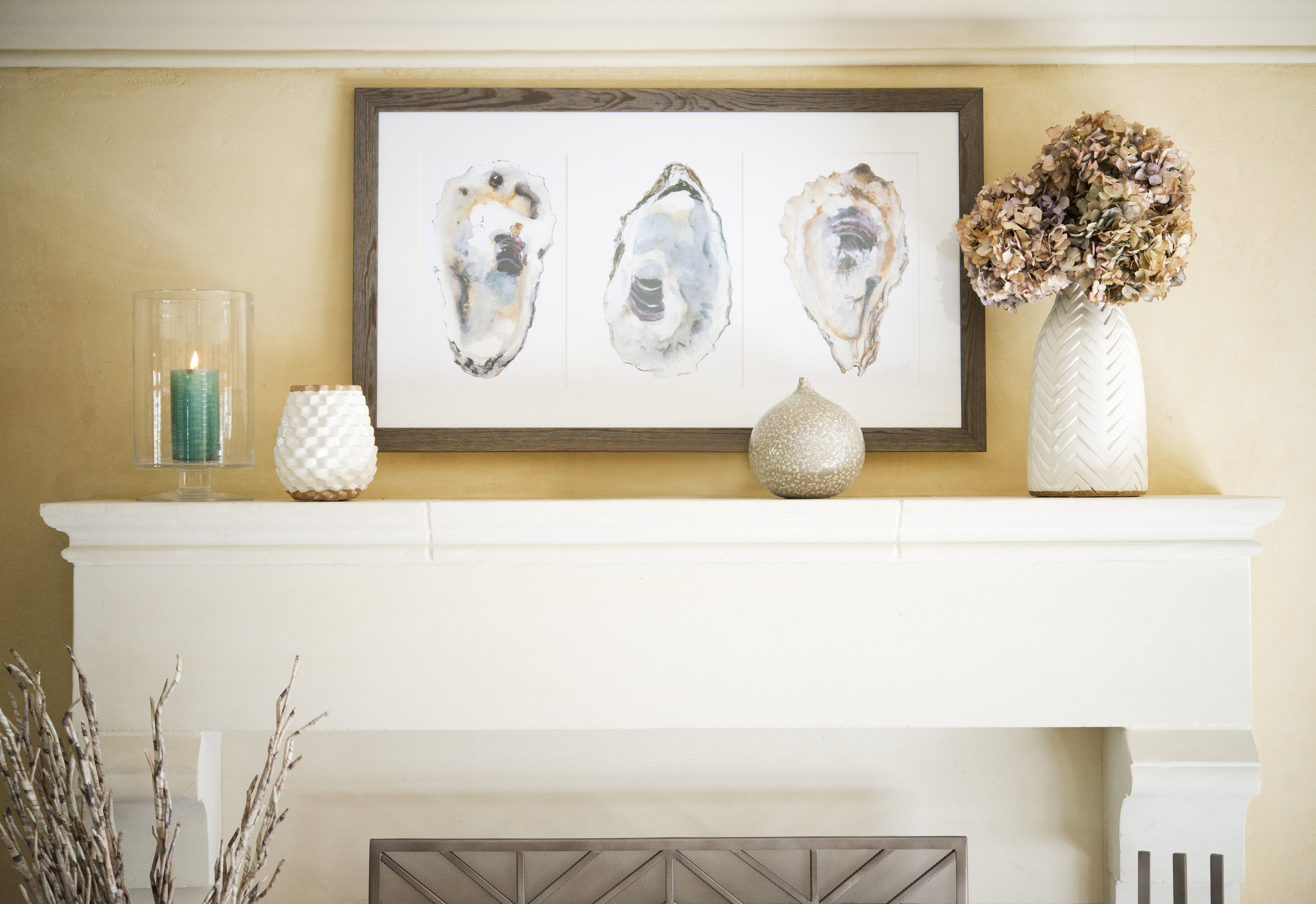 My Splendid Living partnered with Crate & Barrel for a casual Fireplace Display! #cratestyle
